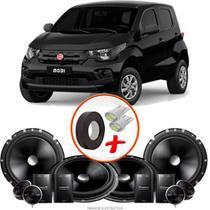 "Kit Alto Falante Pionner Fiat Mobi 2 Vias TS-C170BR 6X6"" 240W RMS + Tweeters + Crossovers - Kit Delparts"