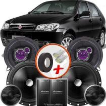 """Kit Alto Falante Pionner Fiat Palio Fire Ts-1360br + TS-C170BR 5X6"""" 220W RMS + Tweeters + Crossovers - Pioneer"""