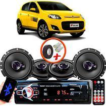 "Kit Alto Falante Pionner Fiat Palio Sporting  Ts-1360br + TS-1760BR 5X6"" 200W RMS 4 Ohms Triaxial Bobina Simples + Rádio Com Bluetooth - Pioneer"