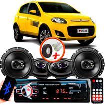 "Kit Alto Falante Pionner Fiat Palio Sporting Ts-1360br + TS-1790BR 5X6"" 220W RMS 4 Ohms Triaxial Bobina Simples + Rádio Com Bluetooth - Pioneer"