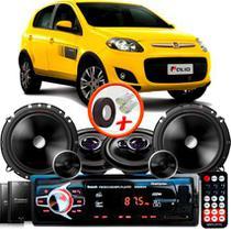 "Kit Alto Falante Pionner Fiat Palio Sporting Ts-1360br + TS-C170BR 5X6"" 220W RMS + Tweeters + Crossovers + Rádio Com Bluetooth - Pioneer"