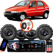 "Kit Alto Falante Pionner Fiat Palio Ts-1360br + TS-1760BR 5X6"" 200W RMS 4 Ohms Triaxial Bobina Simples + Rádio Com Bluetooth - Pioneer"