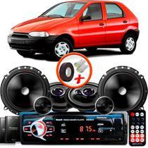 "Kit Alto Falante Pionner Fiat Palio Ts-1360br + TS-C170BR 5X6"" 220W RMS + Tweeters + Crossovers + Rádio Com Bluetooth - Pioneer"