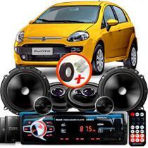 """Kit Alto Falante Pionner Fiat Punto Ts-1360br + TS-C170BR 5X6"""" 220W RMS + Tweeters + Crossovers + Rádio Com Bluetooth - Pioneer"""