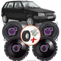 "Kit Alto Falante Pionner Fiat Uno Mile Economy Ts-1360br + TS-1760BR 5X6"" 200W RMS 4 Ohms Triaxial Bobina Simples - Pioneer"