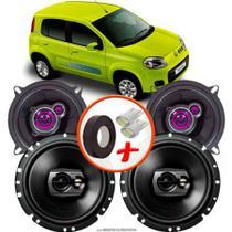 "Kit Alto Falante Pionner Fiat Uno Vivace Ts-1360br + TS-1790BR 5X6"" 220W RMS 4 Ohms Triaxial Bobina Simples - Pioneer"