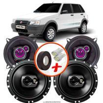 "Kit Alto Falante Pionner Fiat Uno Way Ts-1360br + TS-1790BR 5X6"" 220W RMS 4 Ohms Triaxial Bobina Simples - Pioneer"