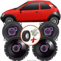 "Kit Alto Falante Pionner Ford Ká Hatch Ts-1360br + TS-1760BR 5X6"" 200W RMS 4 Ohms Triaxial Bobina Simples - Pioneer"
