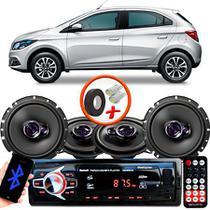 "Kit Alto Falante Pionner Ford Ká Hatch Ts-1360br + TS-1760BR 5X6"" 200W RMS 4 Ohms Triaxial Bobina Simples + Rádio Com Bluetooth - Pioneer"