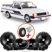 "Kit Alto Falante Pionner GM Chevy 2 Vias TS-C170BR 6X6"" 240W RMS + Tweeters + Crossovers - Kit Delparts"