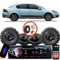 "Kit Alto Falante Pionner GM Vectra Sedan Ts-1360br + TS-1760BR 5X6"" 200W RMS 4 Ohms Triaxial Bobina Simples + Rádio Com Bluetooth - Pioneer"