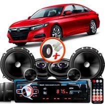 """Kit Alto Falante Pionner Honda Accord Ts-1360br + TS-C170BR 5X6"""" 220W RMS + Tweeters + Crossovers + Rádio Com Bluetooth - Pioneer"""