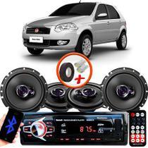 "Kit Alto Falante Pionner Peugeot 2008 Ts-1360br + TS-1760BR 5X6"" 200W RMS 4 Ohms Triaxial Bobina Simples + Rádio Com Bluetooth - Pioneer"