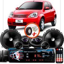 "Kit Alto Falante Pionner Peugeot 2008 Ts-1360br + TS-C170BR 5X6"" 220W RMS + Tweeters + Crossovers + Rádio Com Bluetooth - Pioneer"