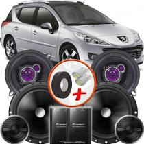 """Kit Alto Falante Pionner Peugeot 206 SW Ts-1360br + TS-C170BR 5X6"""" 220W RMS + Tweeters + Crossovers - Pioneer"""