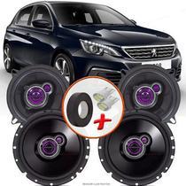 "Kit Alto Falante Pionner Peugeot 308 Hatch Ts-1360br + TS-1760BR 5X6"" 200W RMS 4 Ohms Triaxial Bobina Simples - Pioneer"