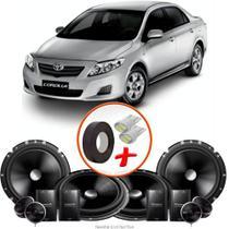 "Kit Alto Falante Pionner Toyota Corolla 2 Vias TS-C170BR 6X6"" 240W RMS + Tweeters + Crossovers - Kit Delparts"
