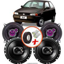 "Kit Alto Falante Pionner Volkswagen Gol G2 Ts-1360br + TS-1790BR 5X6"" 220W RMS 4 Ohms Triaxial Bobina Simples - Pioneer"