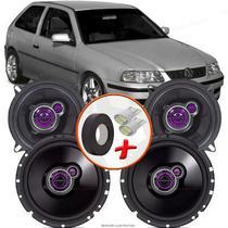 "Kit Alto Falante Pionner Volkswagen Gol G3 Ts-1360br + TS-1760BR 5X6"" 200W RMS 4 Ohms Triaxial Bobina Simples - Pioneer"