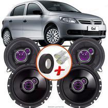 "Kit Alto Falante Pionner Volkswagen Gol G5 Ts-1360br + TS-1760BR 5X6"" 200W RMS 4 Ohms Triaxial Bobina Simples - Pioneer"