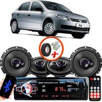 "Kit Alto Falante Pionner Volkswagen Gol G5 Ts-1360br + TS-1760BR 5X6"" 200W RMS 4 Ohms Triaxial Bobina Simples + Rádio Com Bluetooth - Pioneer"
