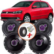 "Kit Alto Falante Pionner Volkswagen Gol G6 Ts-1360br + TS-1760BR 5X6"" 200W RMS 4 Ohms Triaxial Bobina Simples - Pioneer"