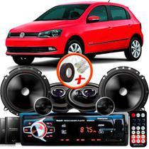 "Kit Alto Falante Pionner Volkswagen Gol G6 Ts-1360br + TS-C170BR 5X6"" 220W RMS + Tweeters + Crossovers + Rádio Com Bluetooth - Pioneer"