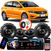 "Kit Alto Falante Pionner Volkswagen Gol G7 Ts-1360br + TS-1790BR 5X6"" 220W RMS 4 Ohms Triaxial Bobina Simples + Rádio Com Bluetooth - Pioneer"