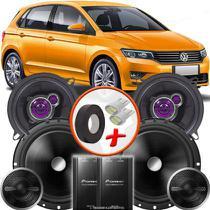 "Kit Alto Falante Pionner Volkswagen Gol G7 Ts-1360br + TS-C170BR 5X6"" 220W RMS + Tweeters + Crossovers - Pioneer"