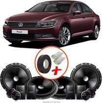 "Kit Alto Falante Pionner VW Passat 2 Vias TS-C170BR 6X6"" 240W RMS + Tweeters + Crossovers - Kit Delparts"