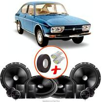 "Kit Alto Falante Pionner VW Variant 2 Vias TS-C170BR 6X6"" 240W RMS + Tweeters + Crossovers - Kit Delparts"