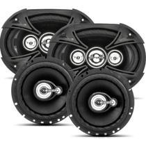 Kit Alto-falantes Fácil Black 2 6x9 + 2 6'' 380 W Rms Bravox -