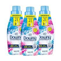 Kit Amaciante Downy 4X Concentrado - Brisa de Verão 500 ml com 3 -