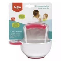 Kit Amassador Para Papinha Para Bebê ROSA (0m+) Buba 09795 -