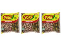 Kit Amendoim Descascado Original Yoki 500g - 3 Unidades