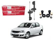 Kit amortecedor dianteiro nakata renault logan 1.0 1.6 2007 a 2013 -