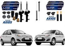 Kit amortecedor dianteiro traseiro nakata ford fiesta sedan hatch 1.0 1.6 2010 a 2014 -