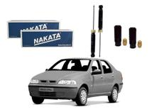 Kit amortecedor traseiro nakata fiat siena 1.0 1.3 1.4 1.5 1.6 1.8 2001 a 2007 -