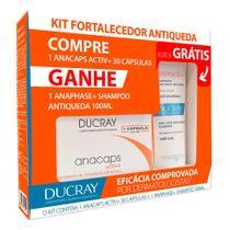 Kit Anacaps Active + Ducray 30 Cápsulas + Anaphase + Shampoo 100ml -