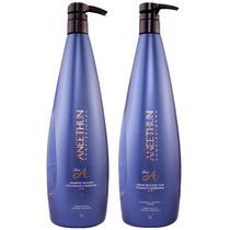 Kit Aneethun Shampoo 1 L  e Creme Silicone Linha A 1 litro  Hidratação -