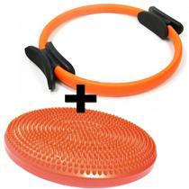 Kit Anel de Pilates + Disco Inflavel Equilibrio Cushion Disc Liveup -