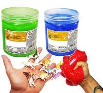 Kit Animais Geleca Slime Meleka Glitter Massa Total 800g - 4S Toys