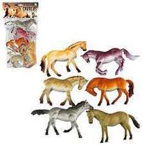 Kit animal cavalo selvagem de vinil grande com 6 peças sortidas - Ark Brasil