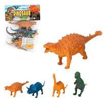 Kit Animal Dinossauro De Pvc Com 4 Pecas Sortidos Na Solapa - Wellmix