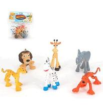Kit Animal Selvagem De Pvc Reino Animal Com 6 Unidades Sortidas Wellkids - Wellmix