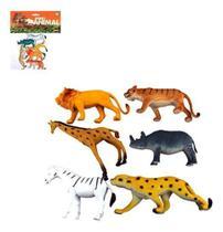 Kit Animal Selvagem De Vinil Reino Animal Grande Com 6 Pecas - Oem -