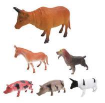 Kit Animal Vida Fazenda com 6 Animais de Vinil - Barcelona