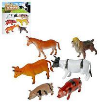Kit animal vida na fazenda com 6 animais de vinil sortidos - Ark Toys