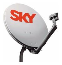 kit antena ku sky 60cm com lnb e cabo -