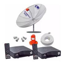 Kit Antena Parabólica Century Completa com 2 Pontos Receptores -